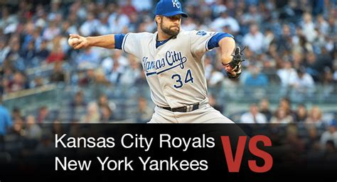 Kansas City Royals Vs Ny Yankees  Bet On Mlb Wagerweb's