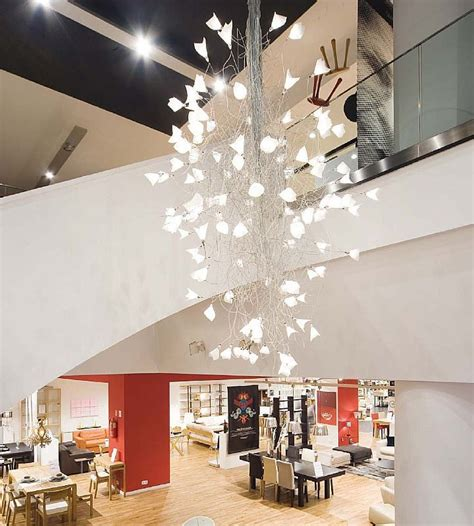 large chandeliers contemporary led jogg twisted chandelier for large spaces modern