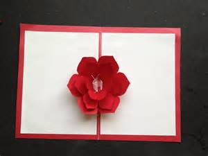 easy to make a 3d flower pop up paper card tutorial free pattern