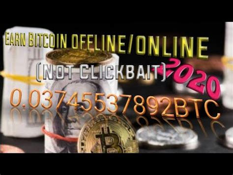 Bitcoin emerged from the need of a currency that wasn't controlled by a central authority. Earn Bitcoin offline/online || site - YouTube