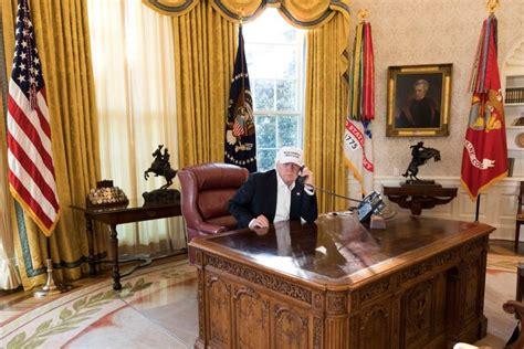 president donald  trump working   white