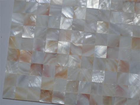 mother  pearl tile shower wall backsplash square