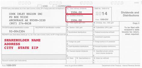 2014 Ciri Shareholder Tax Information Ciri