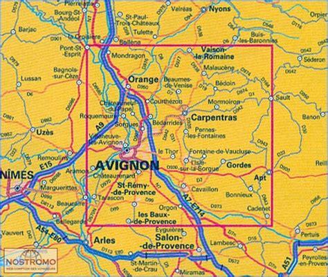 avignon et ses environs carte touristique nostromoweb