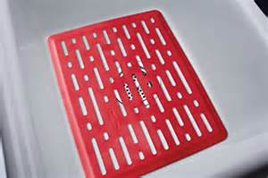 rubbermaid antimicrobial sink mat small red lines new ebay