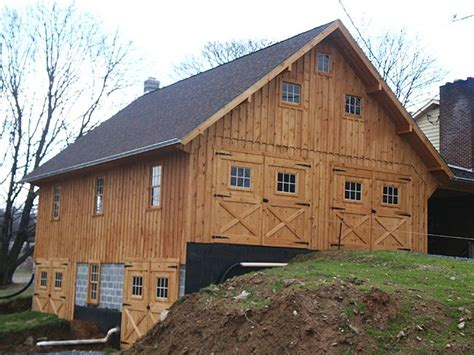 pictures  pole barn homes  bank barn attached