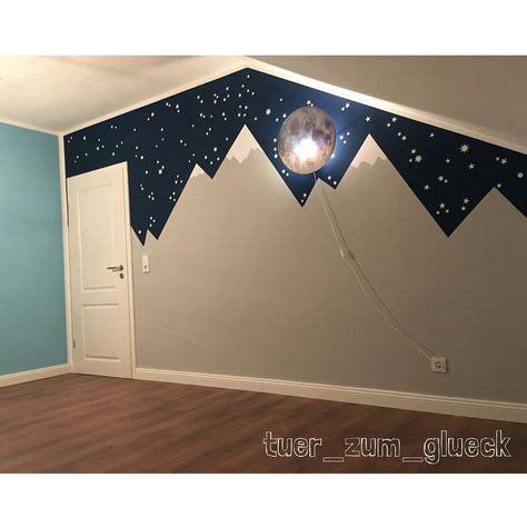 Kinderzimmer Wandgestaltung Himmel by Kinderzimmer Mountainmural Mit Sternenhimmel Pok 243 J