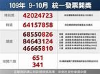 統一發票109年9-10月千萬獎號碼:42024723 | 生活 | 重點新聞 | 中央社 CNA