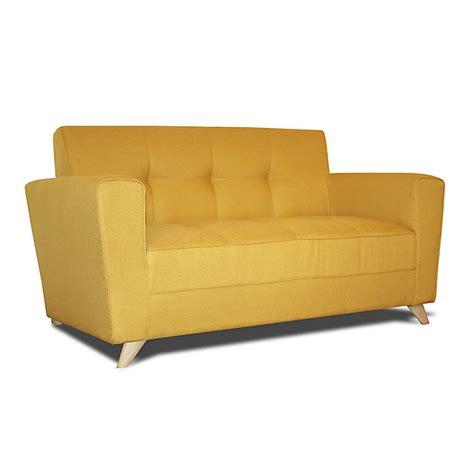 canap 233 2 places fixe en tissu jaune canap 233 canapes fauteuils tous les canap 233 s