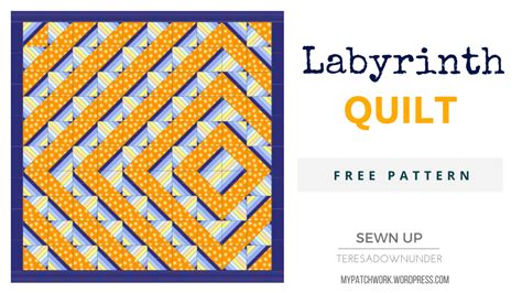 labyrinth quilt pattern free labyrinth quilt free pattern sewn up