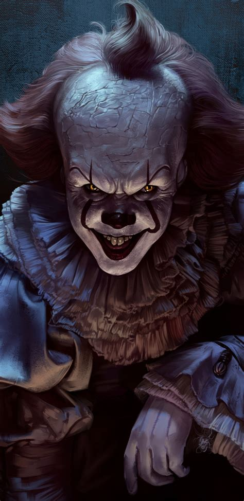 Background Digital Pennywise Clown Pennywise Wallpaper by 1440x2960 Pennywise Joker 4k Samsung Galaxy Note 9 8 S9