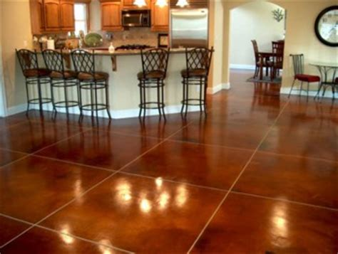 Poured Epoxy Flooring Kitchen by How Much Does Stained Concrete Cost