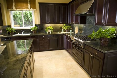 pictures  kitchens traditional dark espresso kitchen