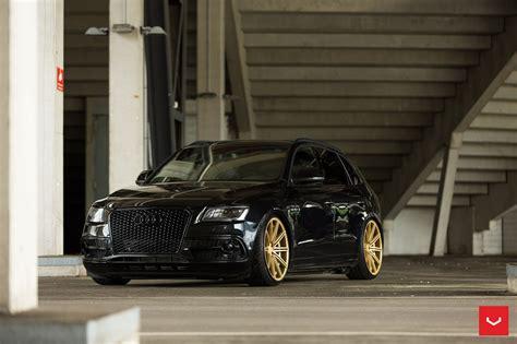 "Audi Sq5  Custom 22"" Vossen Cv4  Black On Gold"