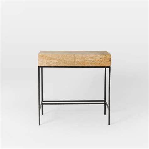 west elm industrial desk industrial storage mini desk west elm