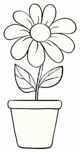 Flower And A Pot Sketch Stock Vector Art & More Images of ...