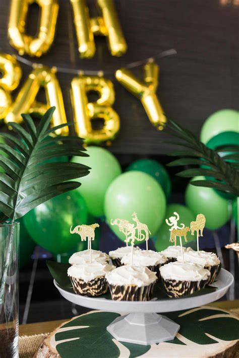 safari baby shower black twine