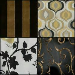 Black and Gold Fabric