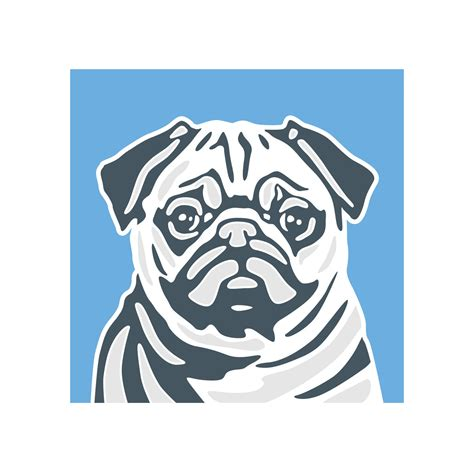 Classic Style  Pug Art Print (print Only)  Naked Decor Prints  Touch Of Modern