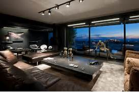 Luxurious Penthouse Dramatic Interior Dramatic And Luxurious Skyfall Apartment In Dark Colors