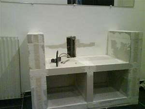les 25 meilleures idees de la categorie beton cellulaire With meuble en beton cellulaire