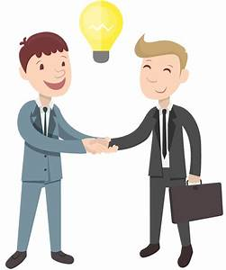 Cartoon two businessman handshake idea | 1designshop