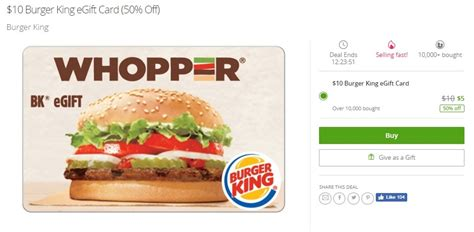 Ee  Check Burger King Gift Card Bala E Ee   Lamoureph Blog