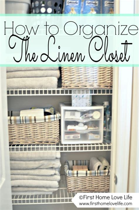 how to organize the linen closet favething
