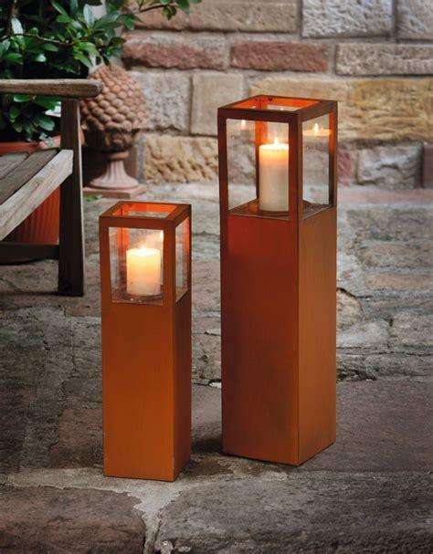 Garten Windlichter Groß by Windlicht S 228 Ule Metall Rost Optik 2er Set Windlicht Glas
