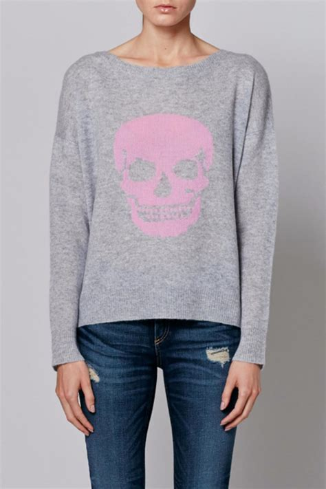 Sweater Panda Pink By Z Shop 360 skull pink skull sweater from massachusetts