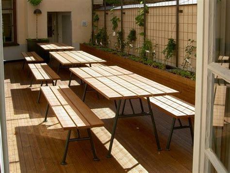 tables pliantes en bois table de jardin pliante pratique et 233 conomique en espace