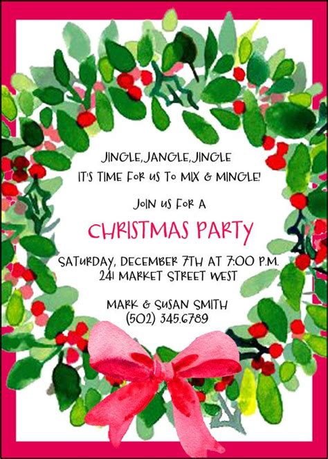 For wreath making party Xmas party invitations