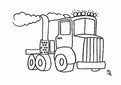 Coloring Semi Truck Pages Boys Printable Trucks