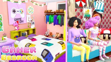 sims 4 gamer girl bedroom cc youtube
