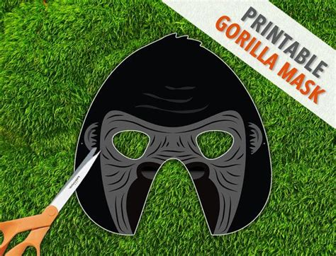 gorilla printable mask primate mask king kong donkey etsy king kong animal themed birthday