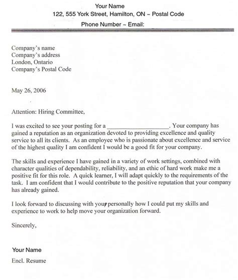 find information about writing a cover letter sle cover letters for employment sle cover letter