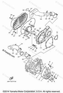 Yamaha Atv 2009 Oem Parts Diagram For Crankcase Cover  1