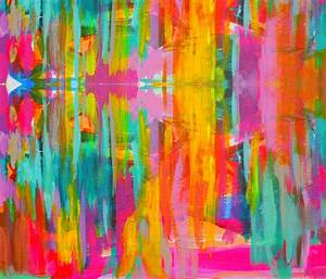 Double Neon Abstract fabric precious beast Spoonflower