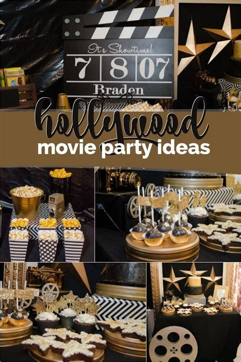 boys hollywood  themed birthday party amazing