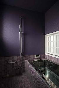 Bathroom shower shelves stainless steel dark purple for Dark purple bathrooms
