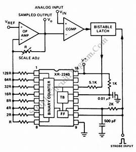 digital sample and hold simple circuit diagram With xr2240 timer circuit project