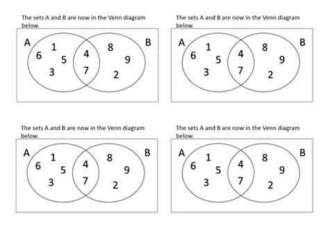 venn diagrams set notation  intersection union