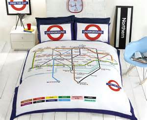 London Themed Bedroom by London Underground Tube Map Quilt Duvet Cover Amp P Cases