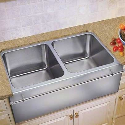 stainless steel apron sink with towel bar culinary gourmet stainless steel kitchen sinks