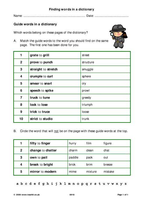 worksheet dictionary skills worksheets worksheet