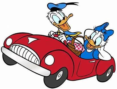 Clipart Clip Cars Driving Duck Donald Cartoon