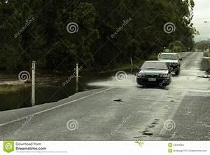 Cars Crossing Flooded Road Editorial Image | CartoonDealer ...