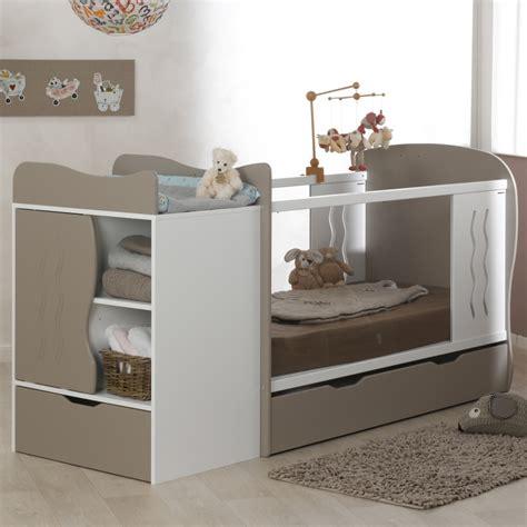 chambre de bebe original lit bebe evolutif avec tiroir blanc 70x140 marilinm01e