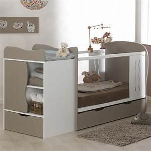 lit bebe evolutif avec tiroir blanc lin 70x140 marilinm01e With chambre bébé design avec livraison bouquet pas cher