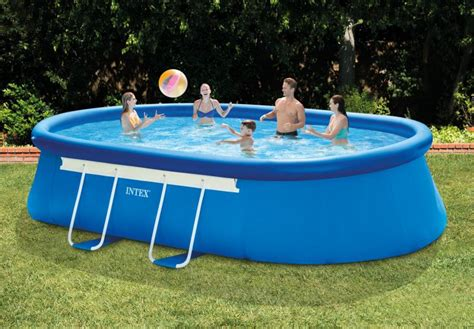 frame pool rechteckig intex swimming pool oval frame intex schwimmbad co